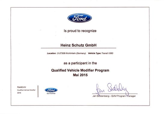 Ford - Qualified Vehicle Modifier Program